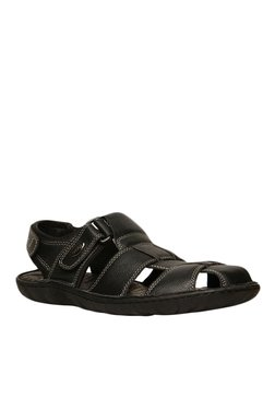 Scholl Bolt Black Fisherman Sandals