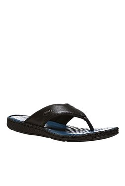 Scholl Bradley Black Thong Sandals