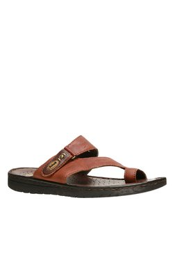 Scholl Sung Brown Toe Ring Sandals
