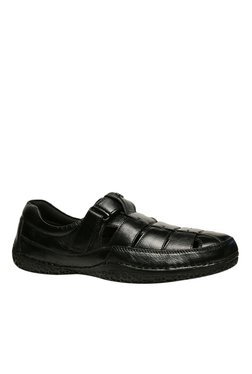 Scholl Thomas Black Fisherman Sandals