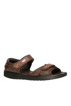 Scholl Sung Brown Floater Sandals
