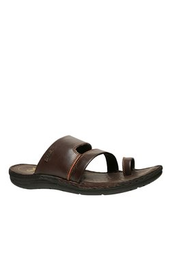 Scholl Sam Dark Brown Toe Ring Sandals