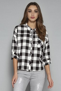Nuon by Westside Black & White Bethany Shirt