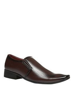 Bata Frank Dark Brown Formal Slip-Ons