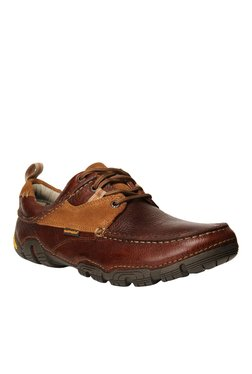 Hush Puppies Torque Dark Brown & Tan Casual Shoes