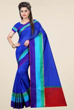 Nirja Creation Multicolor Cotton Silk Saree With Blouse