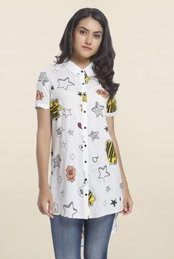 Only White Printed Long Shirt