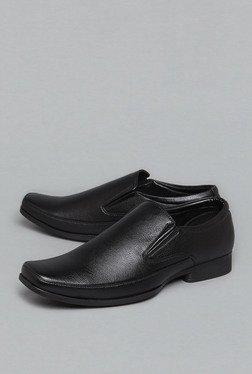 Azzurro By Westside Black Slip On Loafers