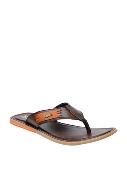 BCK By Buckaroo Perez Dark Brown Thong Sandals