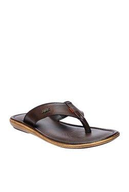 BCK By Buckaroo Axel Dark Brown Thong Sandals