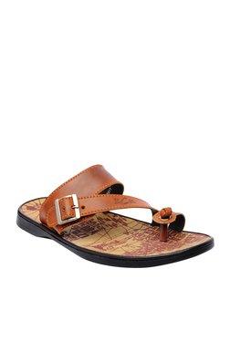 BCK By Buckaroo Blair Dark Tan Toe Ring Sandals