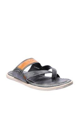 BCK By Buckaroo Ramos Black & Tan Toe Ring Sandals