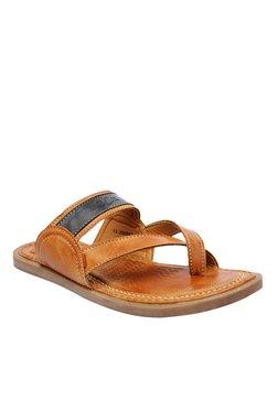 BCK By Buckaroo Ramos Tan & Black Toe Ring Sandals