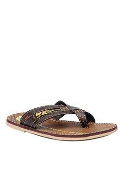 BCK By Buckaroo Vega Dark Brown Toe Ring Sandals