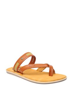 BCK By Buckaroo Carl Tan Toe Ring Sandals