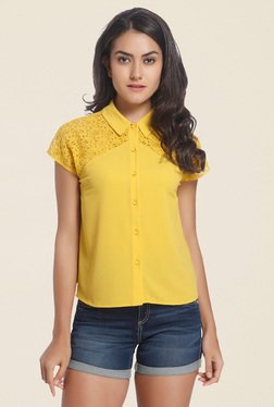 Only Yellow Lace Shirt