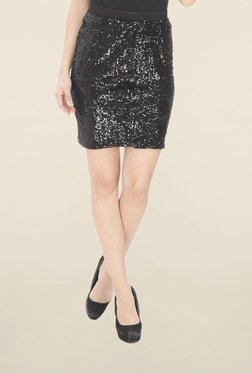 Leo Sansini Black Embellished Skirt