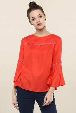 Femella Red Solid Top