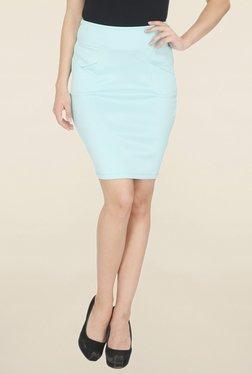 Leo Sansini Turquoise Solid Skirt