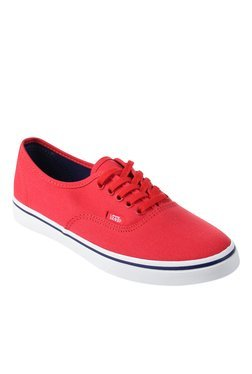 Vans Classics Authentic Lo Pro Red & White Sneakers