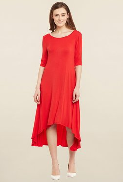 Femella Red High Low Dress