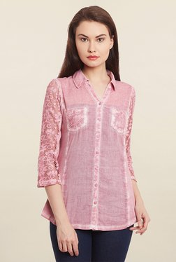 Free & Young Pink Lace Shirt