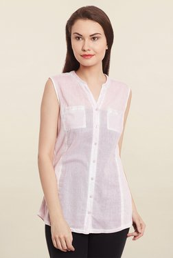 Free & Young Pink Solid Shirt