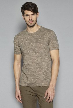 ETA By Westside Beige Slim Fit T Shirt
