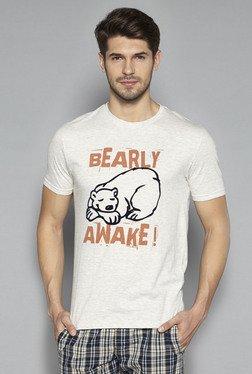 Bodybasics By Westside Ecru Crew-Neck T Shirt