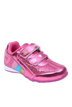 Lilliput Kitty Girl Dark Pink & White Sneakers