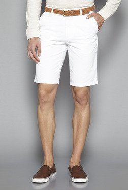 Ascot by Westside White Slim Fit Shorts