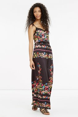 Oasis Brown Floral Print Maxi Dress - Mp000000001190401
