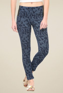 Westwood Navy Mid Rise Skinny Fit Jeggings