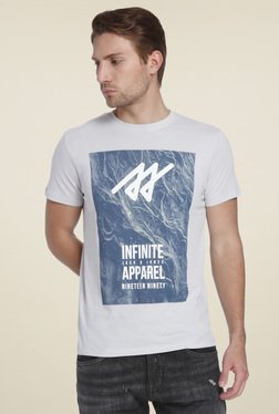 Jack & Jones Light Grey Slim Fit T-Shirt