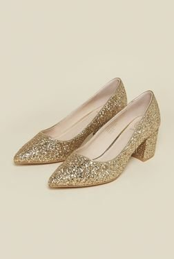 Kurt Geiger Dazzle Golden Pump Shoes
