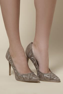 Kurt Geiger Bindy Taupe Stiletto Heeled Pumps