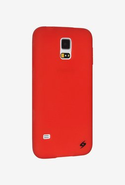 Amzer Silicone Skin Jelly Case for S5 SM-G900 (Red)