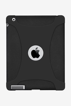 Amzer Silicone Skin Jelly Case For Apple IPad 4 (Black)