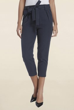 Only Navy Pin Striped Pant