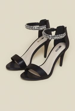 Carvela By Kurt Geiger Georgie Black Ankle Strap Stilettos