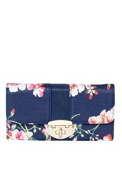 Toniq Gardenia Blue Floral Printed Tri-Fold Wallet
