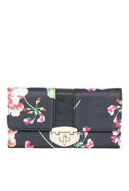 Toniq Gardenia Grey Floral Printed Tri-Fold Wallet