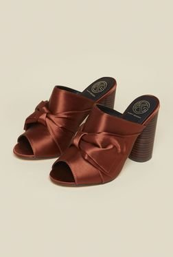 Kurt Geiger Jessie Rust Brown Mule Sandals