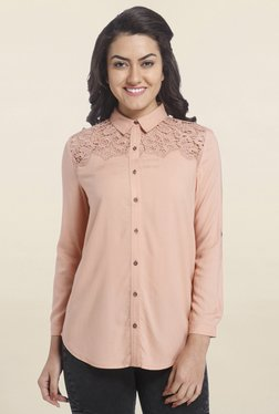 Only Peach Lace Shirt