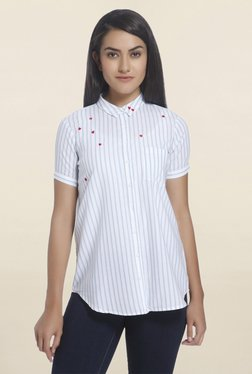Only White Striped Shirt - Mp000000001203267