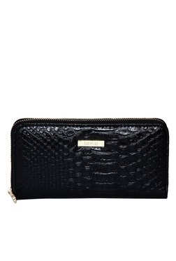 Toniq Mondrian Black Snake Skin Textured Wallet