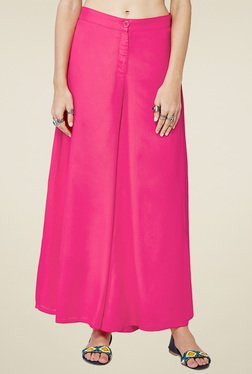 Global Desi Hot Pink Straight Fit Palazzo