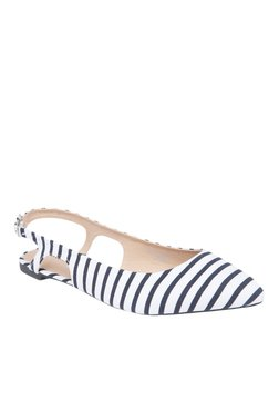 Vero Moda VMNAUTICAL White & Black Back Strap Sandals