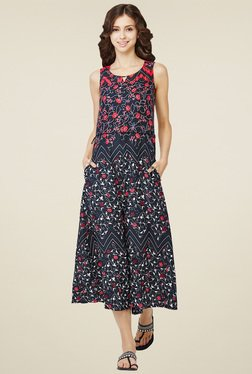Global Desi Black Culottes Jumpsuit