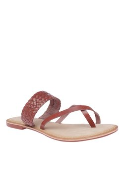 Vero Moda VMALVA Brown Toe Ring Sandals